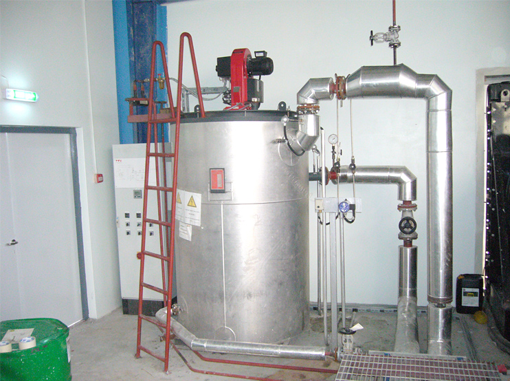 Direct fired thermal oil heater
