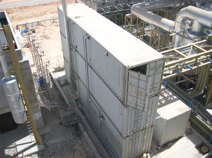 Thermal oil plant installed in container 2