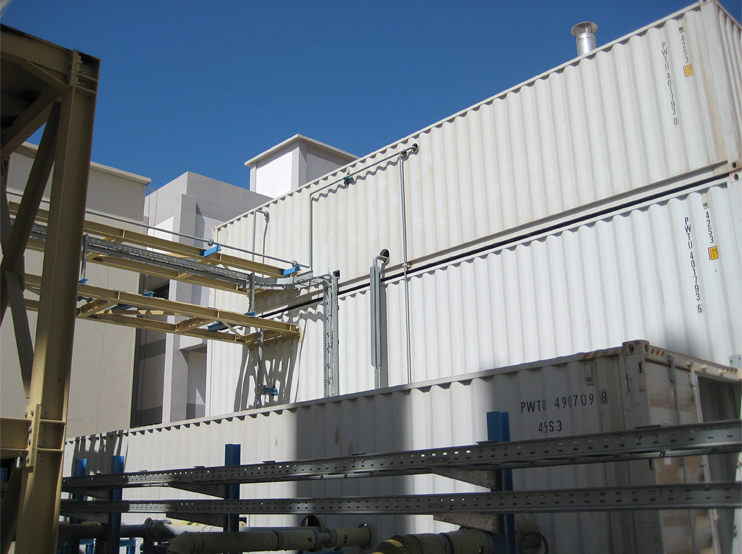 Thermal oil plant installed in container